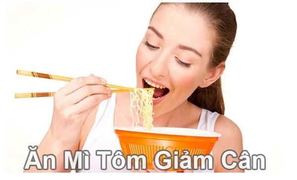 Cách ăn mì tôm giảm cân